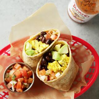 Protein Packed Vegan Breakfast Burrito.
