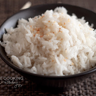 Pressure Cooker Coconut Rice.
