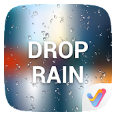 Drop Rain 3D V Launcher Theme