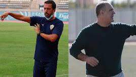 Nandinho y Miras, entrenadores de Almería B y Poli.