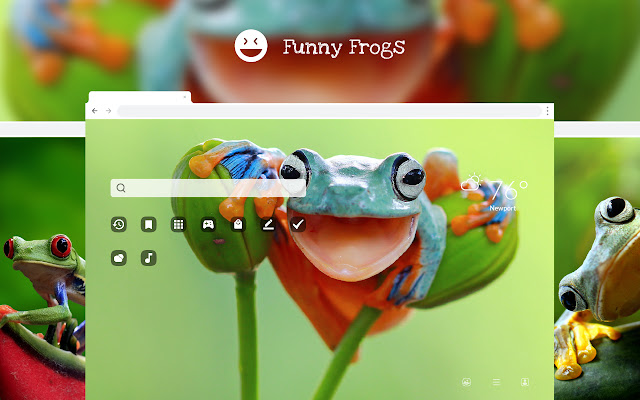 Funny Frogs New Tab