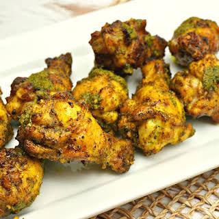 Lemongrass, Cilantro & Garlic Grilled Chicken Wings.