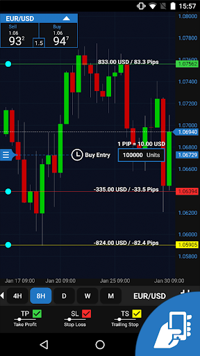 OANDA fxTrade for Android screenshot 1