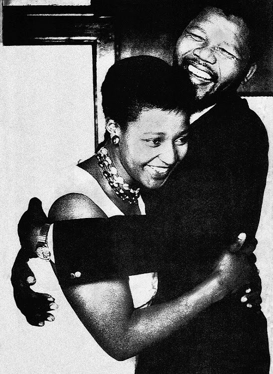 Winnie and Nelson Mandela.