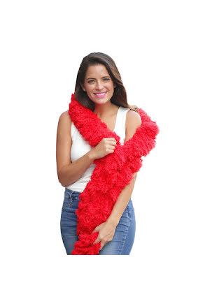 Fjäderfriboa, röd XL
