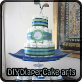 DIY DIAPER CAKE ART