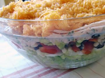 Kicked Up Layered Salad Recipe