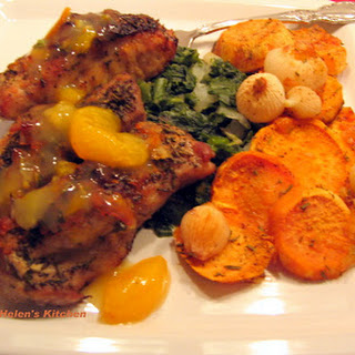 Herb Crusted Ribs with Orange Sauce