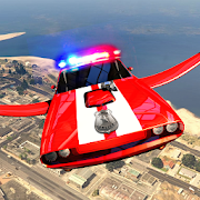 American Muscle Police Transform Flying Robot Car