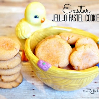 Orange Easter JELLO Pastel Cookies.