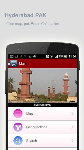 Hyderabad PAK Map offline