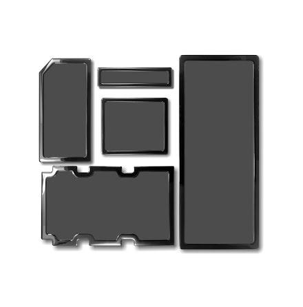DEMCiflex magnetisk filtersett for Corsair 750D, sort