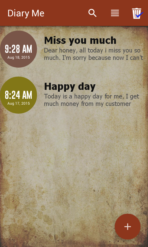 Diary Me- screenshot