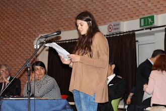 Photo: Lettura in traduzione dei testi del PIccolo Agone Placidiano: Elena Medri 2B
