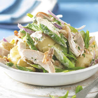Warm Potato, Asparagus and Chicken Salad.