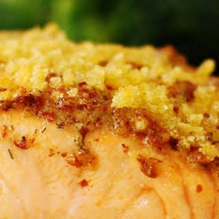 Baked Salmon Fillets Dijon.