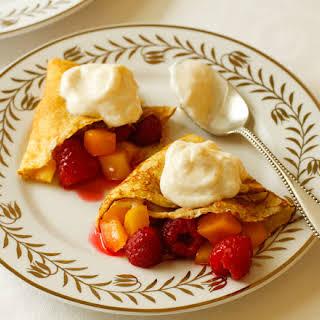 Dessert Fruit Crepes with Cabot Vanilla Bean Greek-Style Yogurt.