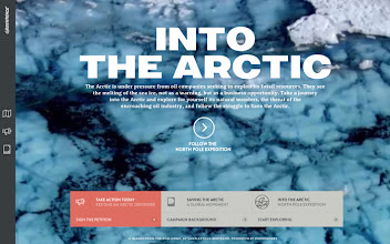 Photo: Site of the Day 19 April 2013 http://www.awwwards.com/web-design-awards/into-the-arctic-greenpeace-1