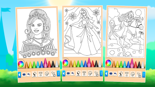Princess Coloring Game 14.0.6 screenshots 12