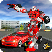 Superhero Robot Car Battle Sim