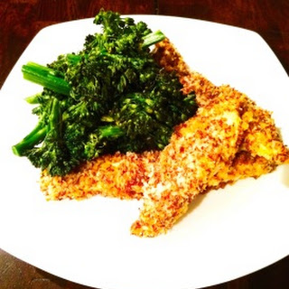 Coconut-Flax Crusted Chicken Strips