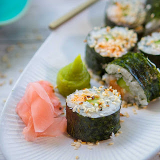 Salmon Carrot Cucumber Sushi Recipe