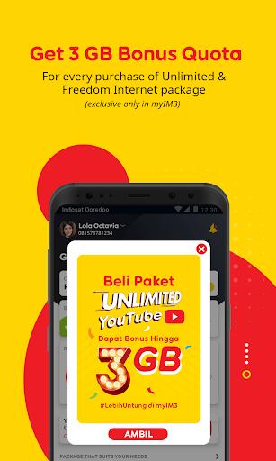myIM3 - Cek Kuota & Beli Paket Internet v76.2 screenshots 2