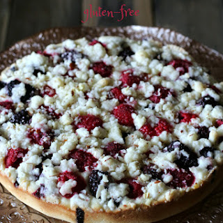 Triple Berry Coffee Cake {Gluten-free}
