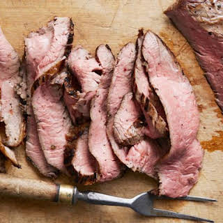 Grilled Flank Steak with Ginger Marinade.