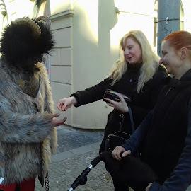 Devil and woman by Luboš Zámiš - City,  Street & Park  Street Scenes