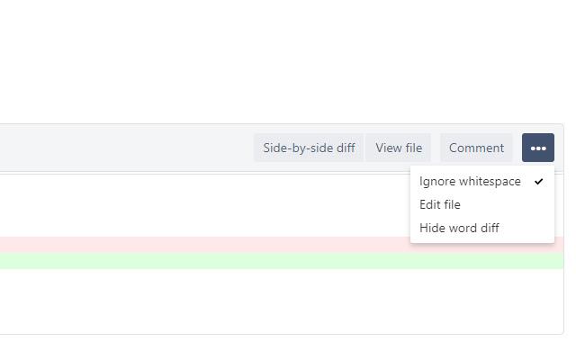 Bitbucket Whitespace Ignorer