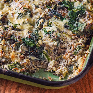 Wild Rice and Kale Casserole.