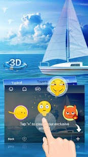 Sailing Life Animated Theme&Emoji Keyboard - náhled