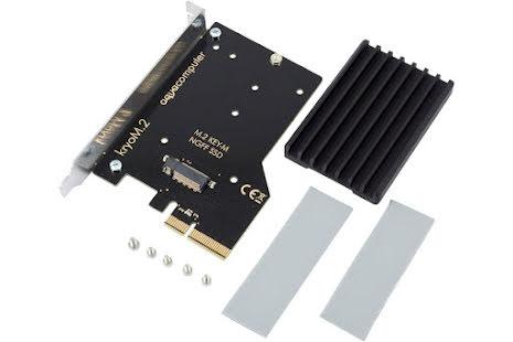 AquaComputer kryoM.2 PCIe 3.0 x4 adapter for M.2 NGFF PCIe SSD, M-Key med kjøleribbe