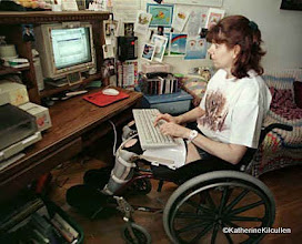Photo: 1998 - Monreal Gazette photo.  Snail mail taped on the wall, m old computer!  Building my website - Forestgreen's Wolfden!