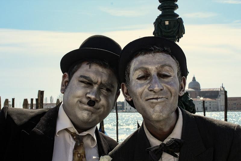 Stanlio e Ollio al carnevale di Venezia  di Bibanto