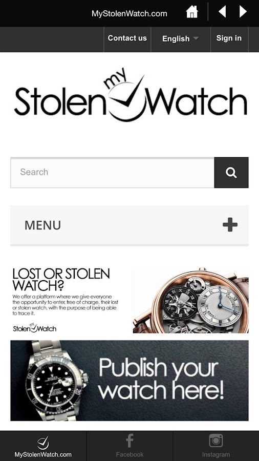 MyStolenWatch- screenshot