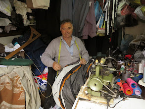 Photo: I asked this man to replace my zip on my tent