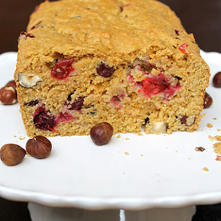 Cranberry Hazelnut Quick Bread - vegan