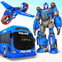 Gorilla Robot transforming game: Bus Robot Car war icon