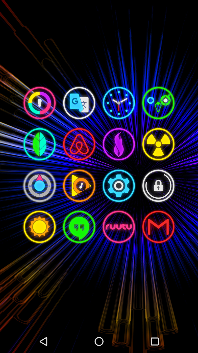 Neon Glow Rings - Icon Pack Screenshot 3