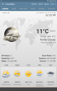 Weather & Clock Widget Android - screenshot thumbnail