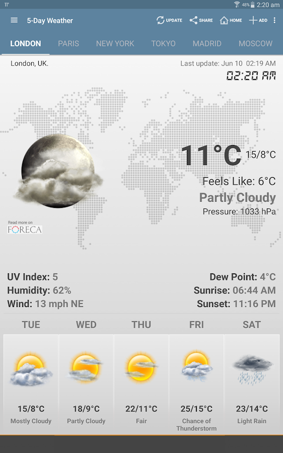 Weather & Clock Widget Android - screenshot