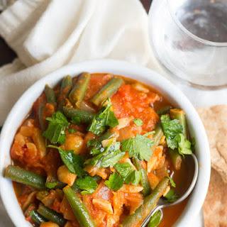 Lebanese Green Bean Stew with Chickpeas & Almonds (Loubieh).