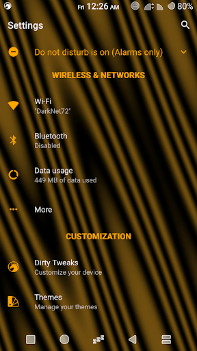 Sprite Substratum Theme Android N and O  screenshots 9