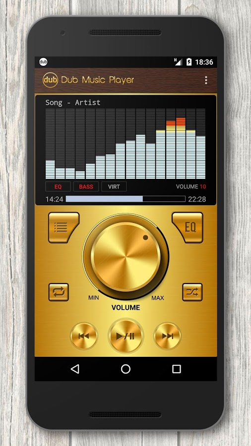 Dub Music Player + Equalizer- screenshot