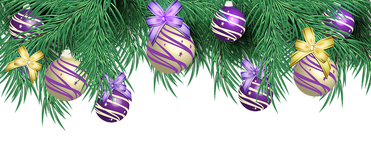 Transparent Christmas Pine Decor With Purple Balls OX-IuPq1d_e0RegjdtV3