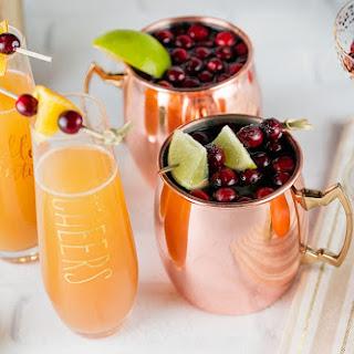Festive Orange Cranberry Mimosa.