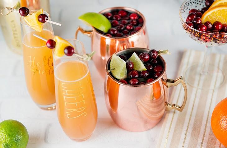 Festive Orange Cranberry Mimosa Recipe