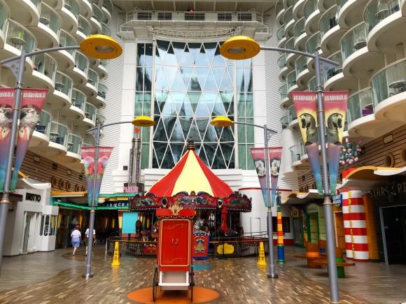 Carousel in the Boardwalk neighborhood on Oasis of the Seas cruise ship